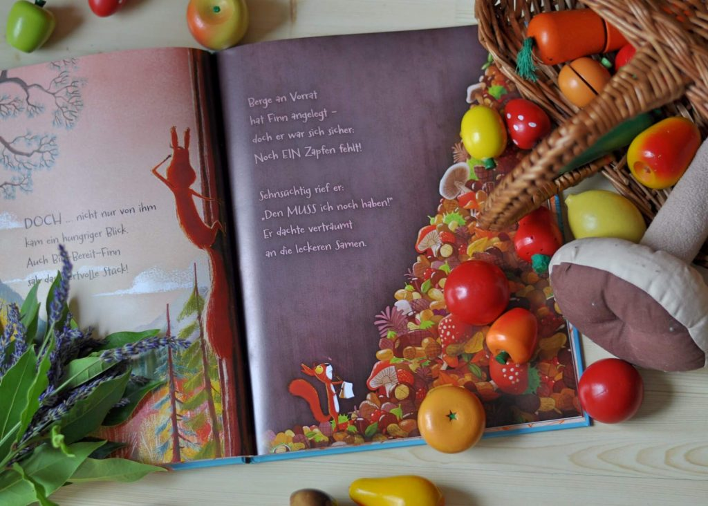 Die Streithörnchen - Teilen ist schöner als streiten #buchtipp #kinderbuch #kind #bilderbuch #eichhörnchen #herbst #vorlesen