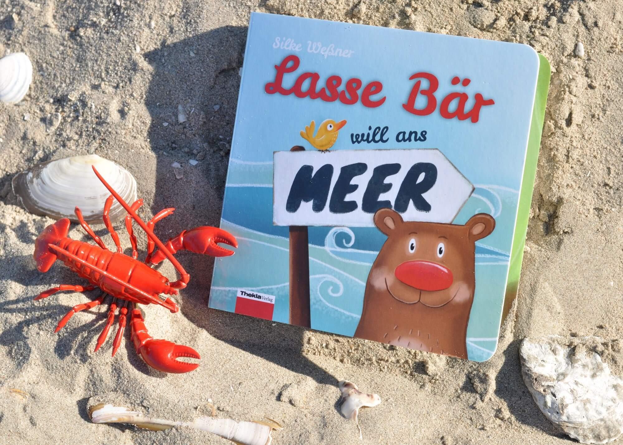 Lasse Bär will ans Meer - außergewöhnliches Pappbilderbuch zum Reisen aus dem Thekla Verlag #bilderbuch #papbuch #baby #kleinkind #meer #bär #rezension #buchtipp