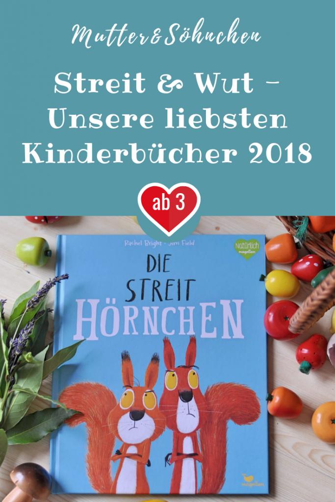 Die Streithörnchen, Das Schlechte-Laune-Monster und Küsschen? Bäh! - ich stelle euch unsere liebsten Kidnerbücher aus 2018 in meinem Jahresrückblick vor. #streiten #wut #eichhörnchen #bilderbuch #buchblogger #bücher #montag #kinderbuch #vorlesen