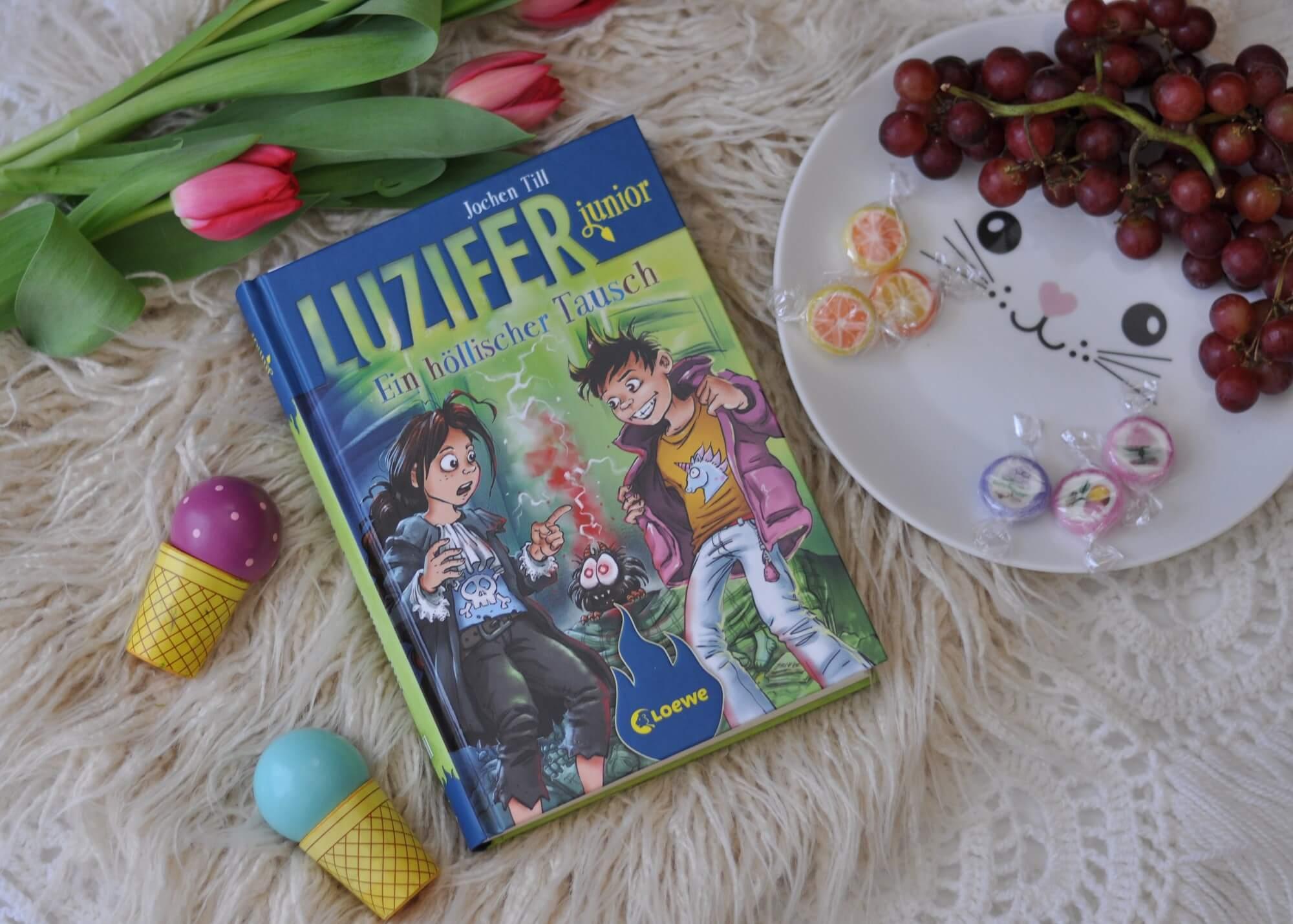 Im 5. Band der Luzifer junior Reihe geht es um Mobbing, Geschwisterstreit, den Unterschied zwischen Jungs und Mädchen und ganz viel Freundschaft. #mobbing #luzifer #lesen #kinderbuch #vorlesen #körpertausch #teufel #comic