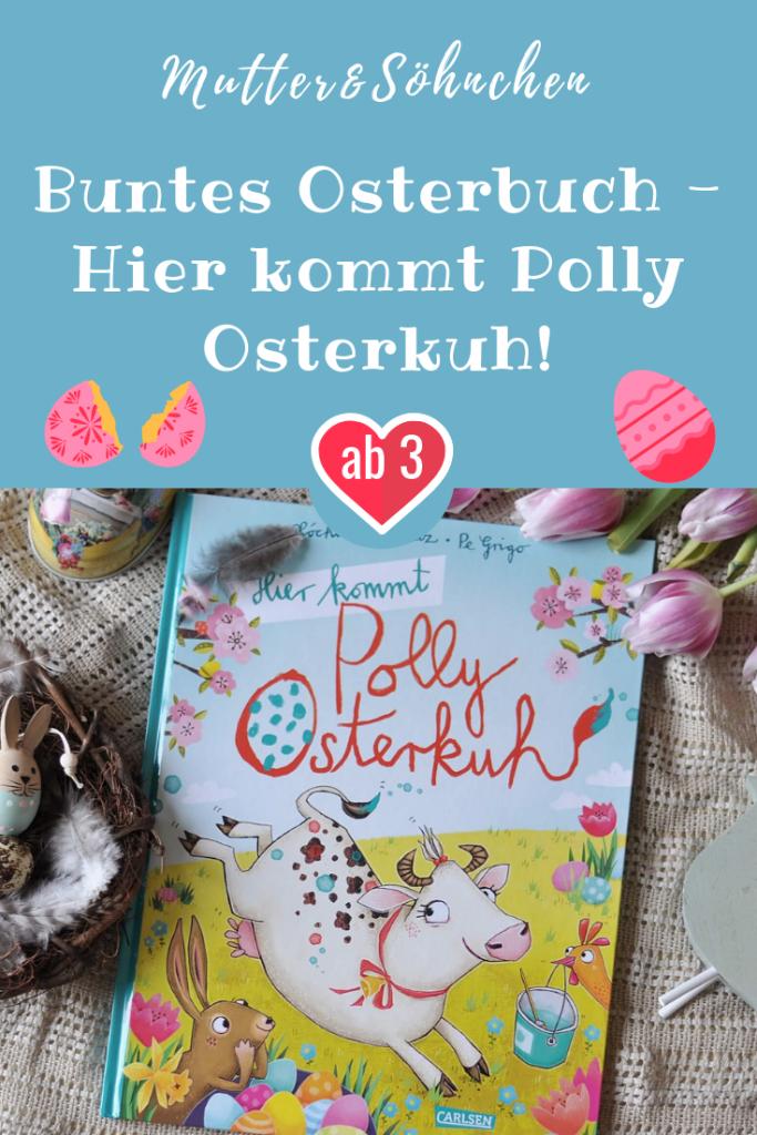 in Hier kommt Polly Osterkuh von Xóchil Schütz. Polly möchte nämlich auch Eier bemalen, nur ist das schwieriger als gedacht. #kuh #ostern #kinderbuch #bilderbuch #frühling