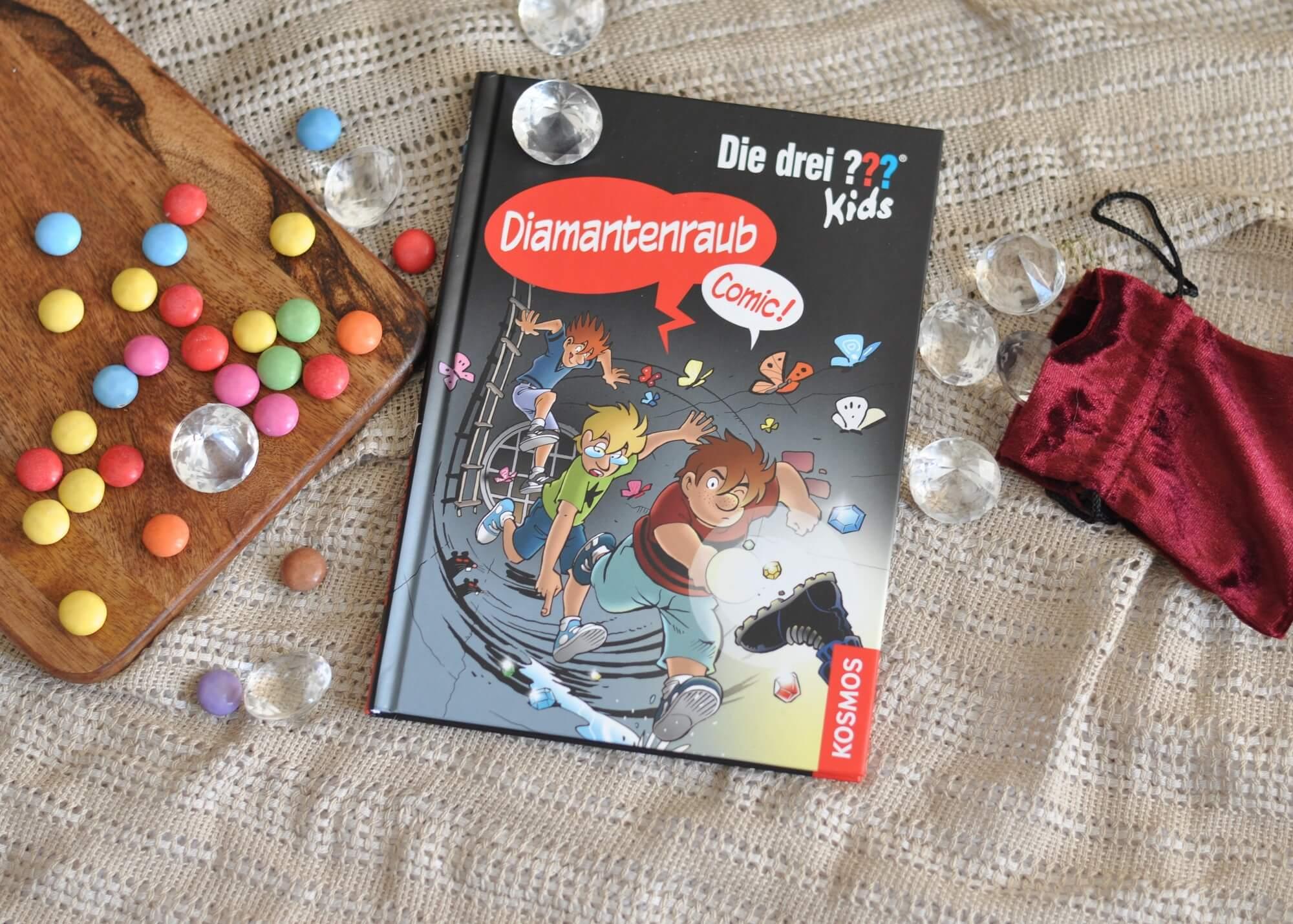 Kennt ihr schon die Drei ??? Kids als Comic? Dann wird es Zeit. Die spannende Comic-Variante regt Erstleser zum Schmökern an. #diamenten #comic #lesen #grundschule #erstleser #??? #detektiv