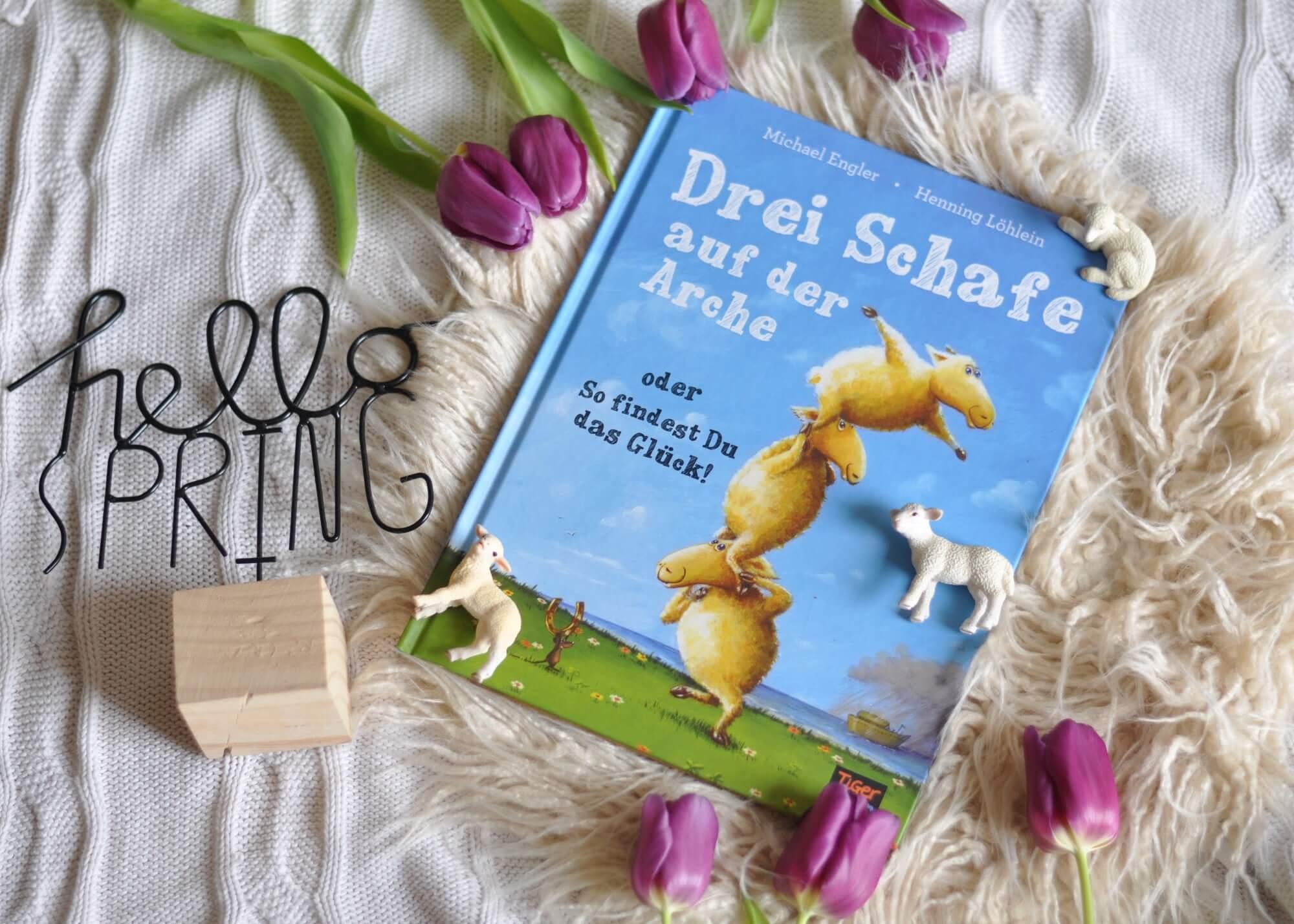 Was macht man, wenn man unter Raubtieren überleben muss? Die drei Schafe Will, Wall und Woll haben drei kluge Regeln für das Überleben unter Wölfen, Löwen und Bären: Zusammenhalten. #arche #noah #schaf# zusammenhalt #kinderbuch #vorlesen #buch #mobbing #kindergarten