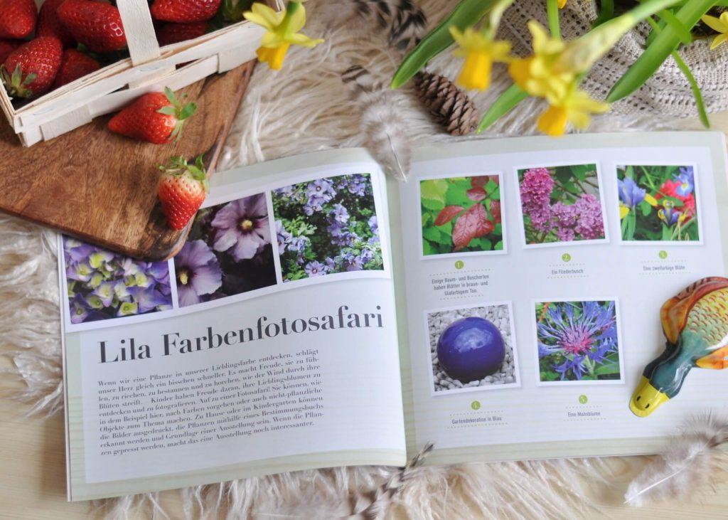 56 Ideen, um die Natur zu endecken, mit Naturmaterialien zu spielen und zu basteln. Dieses Buch inspiriert mit vielen Fotoaufnahmen und wenig Text, ideal für Eltern und Erzieher mit Kindern ab 2 Jahren. #natur #experimente #basteln #montessori #kindergarten #basteln #garten #kinder #spiele