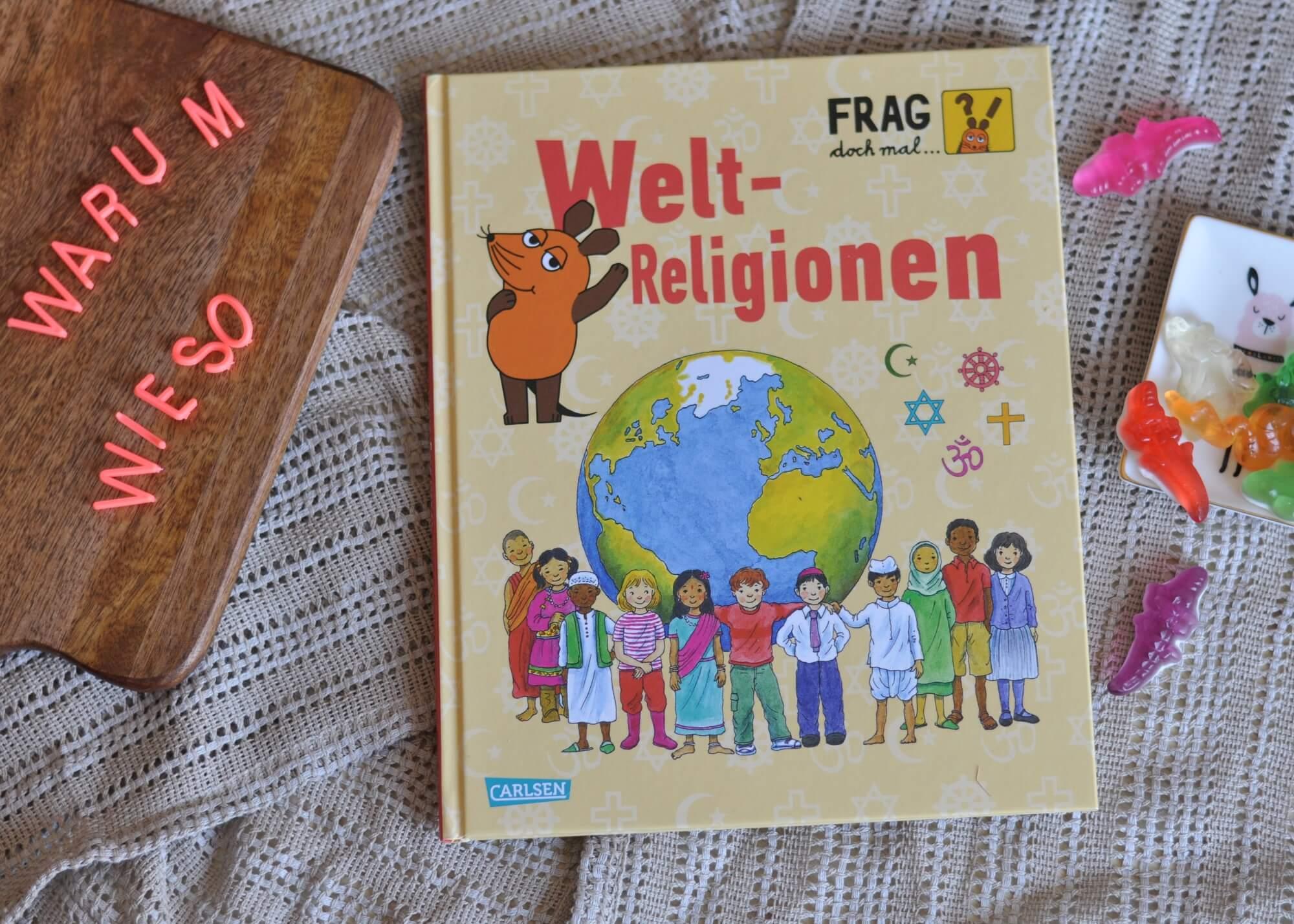 """Frag doch mal die Maus - Sachbücher für Leseanfänger, die auf viele Kinderfragen eine Antwort wissen. Kommen Tiere in den Himmel? Wer war Buddha? Was ist das Zuckerfest? In """"Welt-Religionen"""" werden die fünf großen Religionen kindgerecht erklärt. #religion #kinderbuch #sachbuch #lesen #schule #grundschule #fragen #diemaus #maus #wissen"""