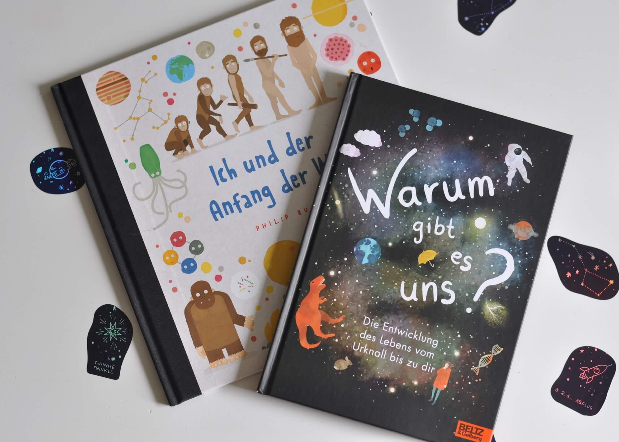 Die Entwicklung der Erde vom Urknall bis zum Menschen - Ich habe für euch zwei kindgerechte Sachbücher gefunden, die in keinem Kinderzimmer fehlen sollten. Warum gibt es uns? ist für Kinder ab 8 Jahren, während Ich und der Anfang der Welt für Kinder ab 4 Jahren ist. Beide sind perfekt und so lustig geschrieben, dass auch Erwachsene noch einiges über Atome & Co. lernen können. #lesen #physik #entstehung #sachbuch #urknall #kinder #welt #universum