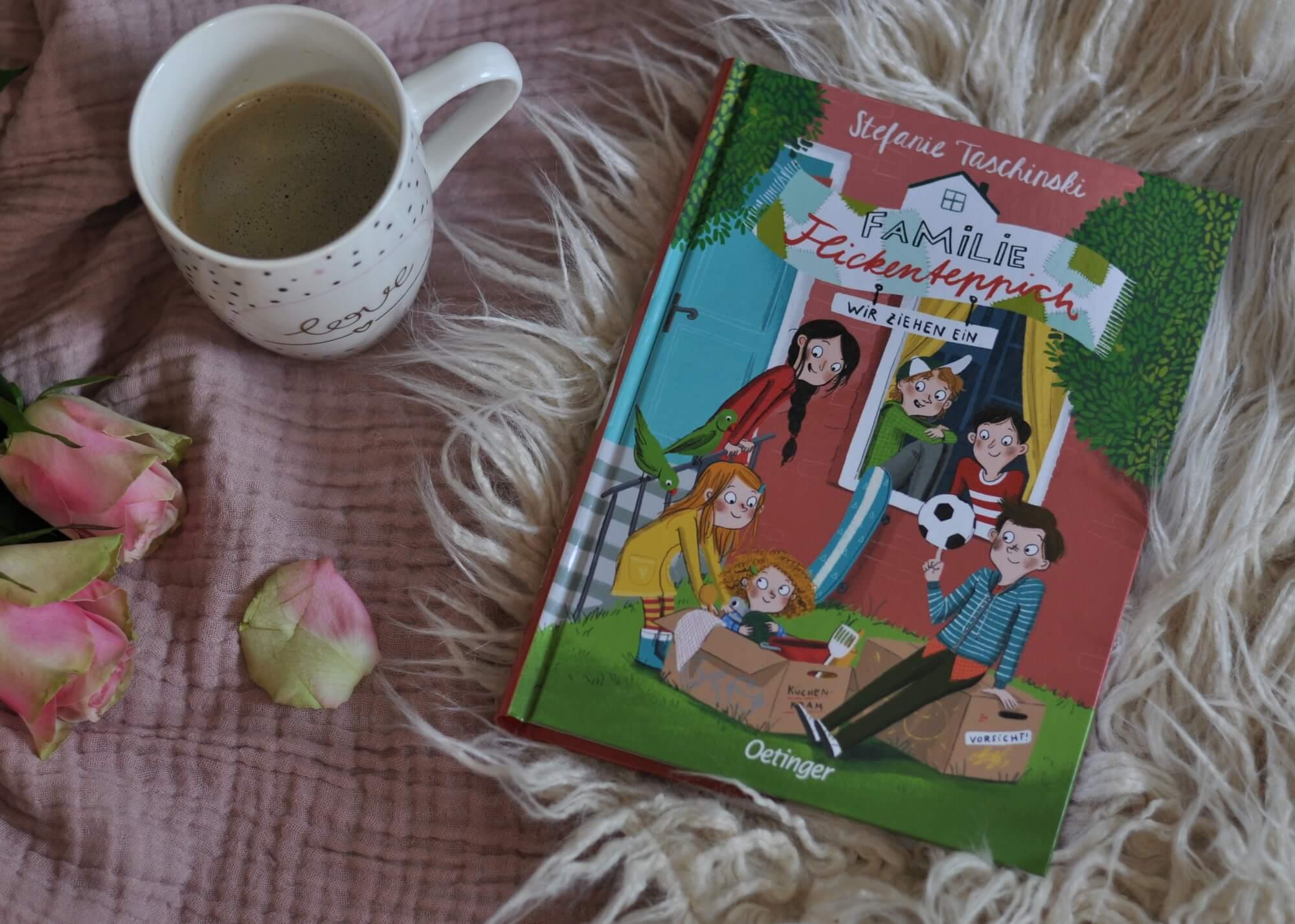 Familie Flickenteppich ist der Auftakt einer warmherzigen und lustigen Kinderbuchreihe. Neben dem Verlust eines Elternteils geht es auch um den Umzug und den Besuch einer neuen Schule. Es werden neue Freunde gefunden. Und obendrauf müssen sechs Kinder ordentlich Detektivarbeit leisten, um zu erfahren, was es mit einem mysteriösen Nachbarn auf sich hat. #kinderbuch #lesen #vorlesen #familie #nachbarn #umzug #freundschaft #kinder #diversität