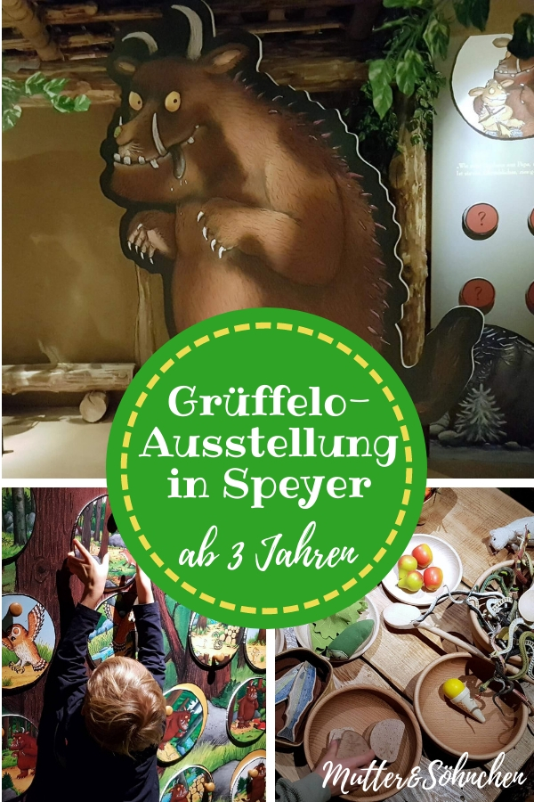 Die Grüffelo-Ausstellung in Speyer ist vor allem für Kinder ab 3 Jahren ausgelegt und daher ein echter Geheimtipp für Schietwettertage. Und ist man erst einmal im Wald der kleinen Maus, möchte man gar nicht mehr weg. Denn hinter jeder Ecke und jedem Baum befindet sich ein neues Spiel, das zum Mitmachen einlädt.  #grüffelo #kinderbuch #museum #ausstellung #kleinkind #spielen #mitmachen #kultur #ausflug #speyer