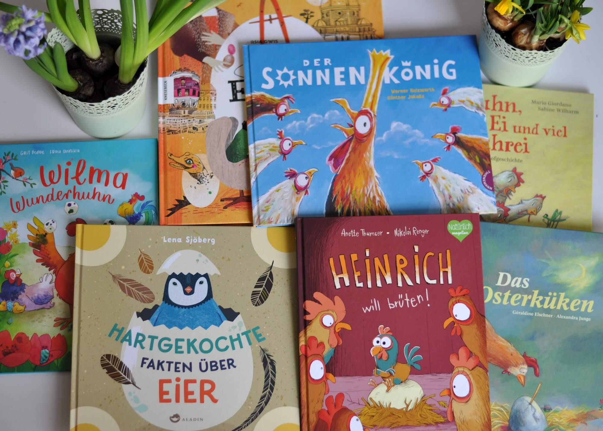 Wie wäre es also mit einem kleinen Hahn, der gerne Eier ausbrüten möchte? Oder einem Huh, das Würfel-Eier legt? Ich stelle sieben Bilderbücher zum Vorlesen, gemeinsamen Gackern und Nachdenken vor, die nicht nur zur Osterzeit interessant sind. #buch #bilderbuch #ostern #huhn #hahn #eier #lesen #vorlesen