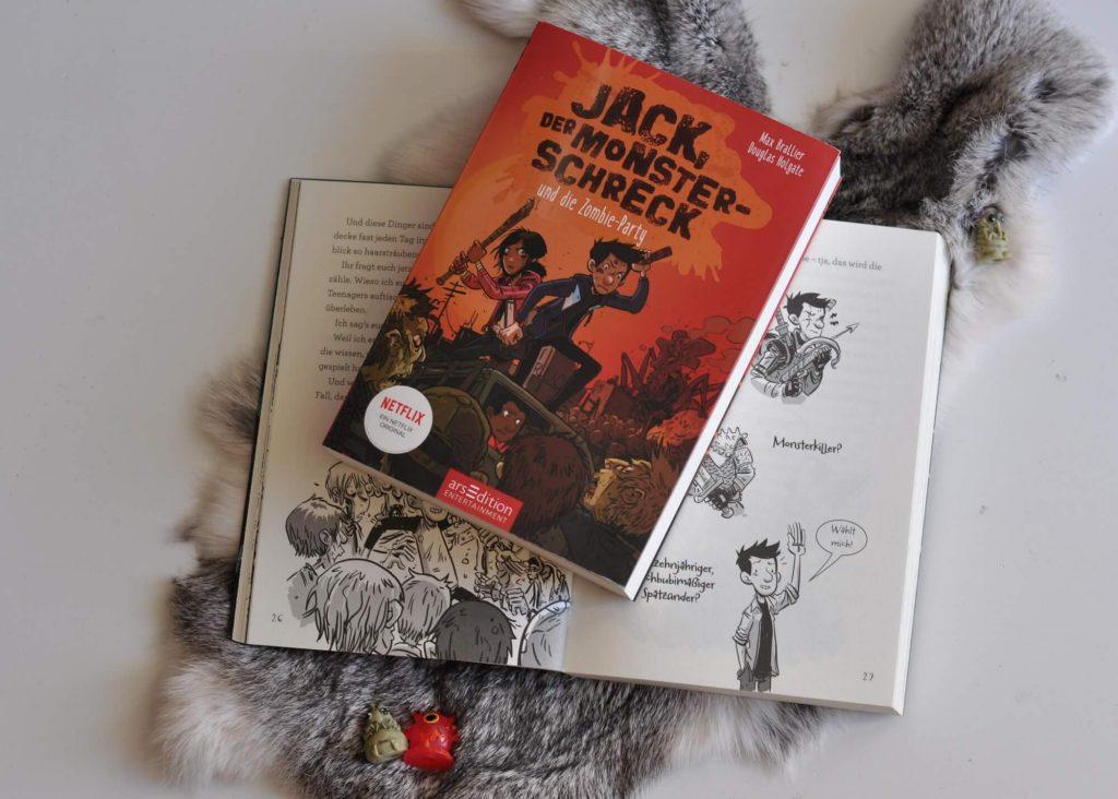 """Minecraft zocken und Pizza essen war gestern, denn hier geht es um das (Über-)Leben nach der Zombie-Apokalypse. Der 13-jährige Jack fühlt sich wie in einem """"Let's Play""""-Video, denn er muss mit seinen Gamer-Freunden und seinem Hund die Untoten abwehren. Doch plötzlich scheinen die Monster abzuwandern. #comic #zombie #lesen #kinderbuch #netflix #reihe #monster"""