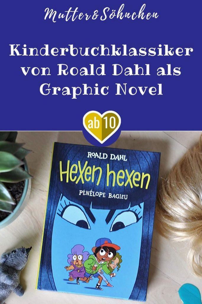 Woran erkennt man eine Hexe? Echte Hexen tragen immer Handschuhe (außer im Bett) und Perücken, haben große Nasenlöcher, lila Augen, keine Fußzehen und blaue Spucke. Und sie sehen aus wie ganz normale Frauen. #hexe #comic #grahicnovel #roald #dahl #kinderbuch #lesen #klassiker #kinder