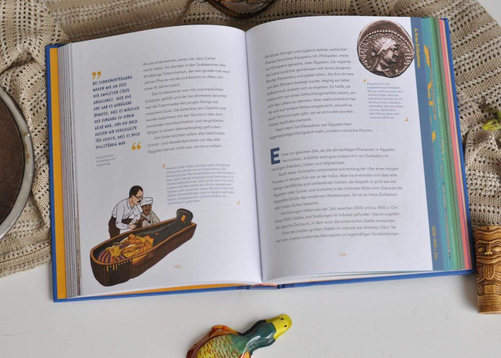 Wie alt ist das Universum? Wohin sind die Dinosaurier verschwunden? Was war so düster am Leben im Mittelalter und warum ist der Klimawandel nicht nur für Eisbären eine schlechte Nachricht? Die Antworten auf diese und viele andere knifflige Fragen finden kleine und große Entdecker in diesem kunterbunten Sachbuch. #sachbuch #geschichte #wissen #buch #kinder #lesen