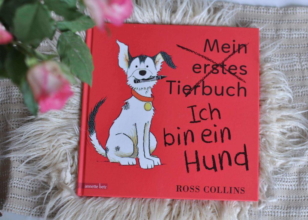 In diesem Bilderbuch geht es um einen ziemlich frechen Hund. Eigentlich sollte das Buch verschiedene Tier vorstellen, aber dieser Streuner schleicht sich auf jeder Seite in den Vordergrund. Doch das lassen sich die anderen Tiere nicht gefallen und schon beginnt eine wilde Jagd, die hundetrickreich endet. #bilderbuch #kinder #hund #lesen #witzig