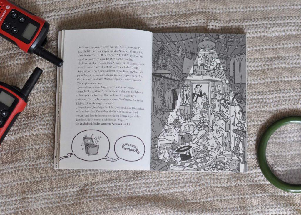 Ob es darum geht, einen Schmuckdieb zu fassen, einem Kunstfälscher das Handwerk zu legen oder einen Diamantenräuber zu stellen - hier ist der Leser mit auf Spurensuchen. Auf jeder Doppelseite befindet sich ein Bilderrätsel, Suchbild oder Labyrinth, bei dem kräftig Mitgeraten werden darf.  #dieb #detektiv #lesen #buch #kinder #raten #rätseln #suchbild #ermitteln