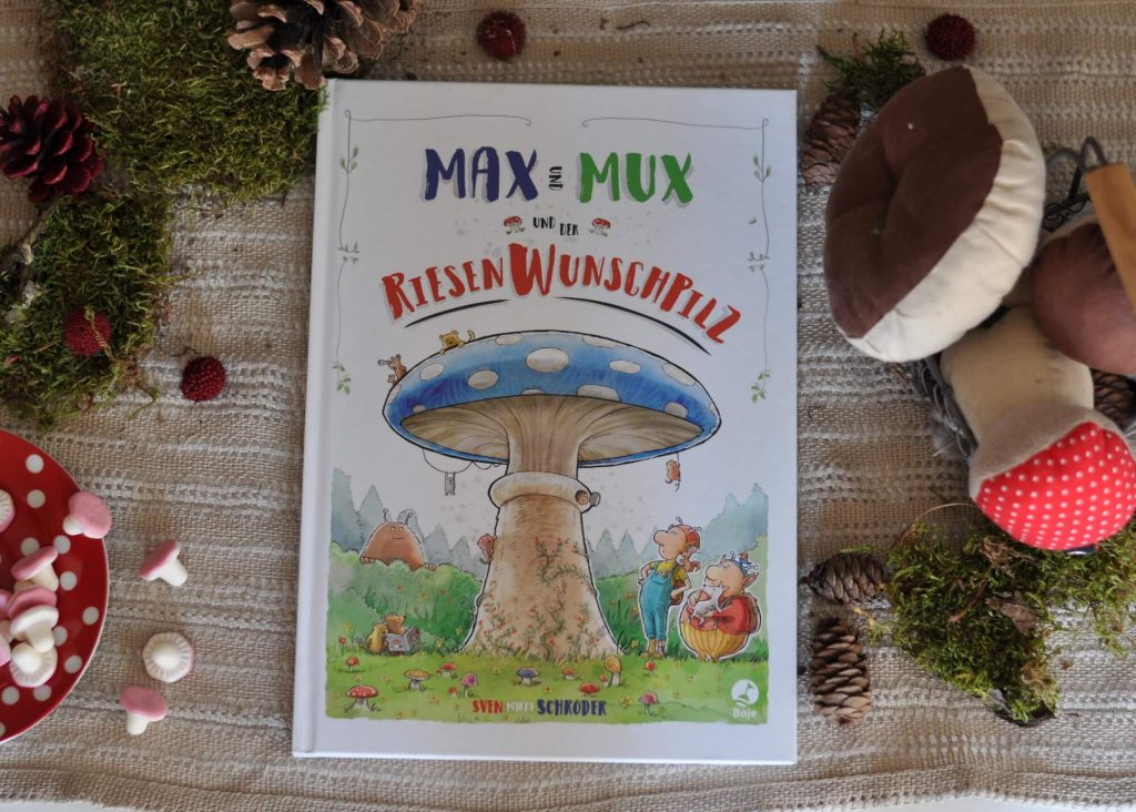 Max und Mux sind die besten Freunde, die man sich nur vorstellen kann. Sie leben im Fabelwald: Max im rechten Baumhaus und Mux im linken. Wenn dem einen mal langweilig ist, geht er den anderen einfach besuchen. Doch eines Tages finden sie ein Pilzbuch, in dem ein geheimnisvoller Wunschpilz beschrieben steht. #pilz #wunschpilz #wald #lesen #kinderbuch #buch #fabelwald