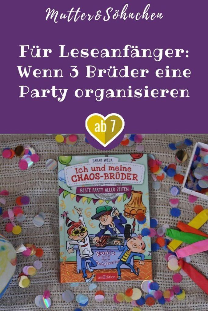 Henry (9), Bela (7) und Ben (5) verstehen die Welt nicht mehr. Ihre Mama wird 40 Jahre alt und möchte doch tatsächlich gar nicht feiern. Und der Vater der drei plant auch noch ein super langweiliges Überraschungs-Abendessen - örks, wie öde. Das kann es doch nicht sein! Also nehmen die drei Jungs die Partyplanung in die Hand, um eine richtige Fete mit allem Drum und Dran zu organisieren. #party #buch #lesen #vorlesen #kinder #brüder #jungs #geburtstag #leseanfänger