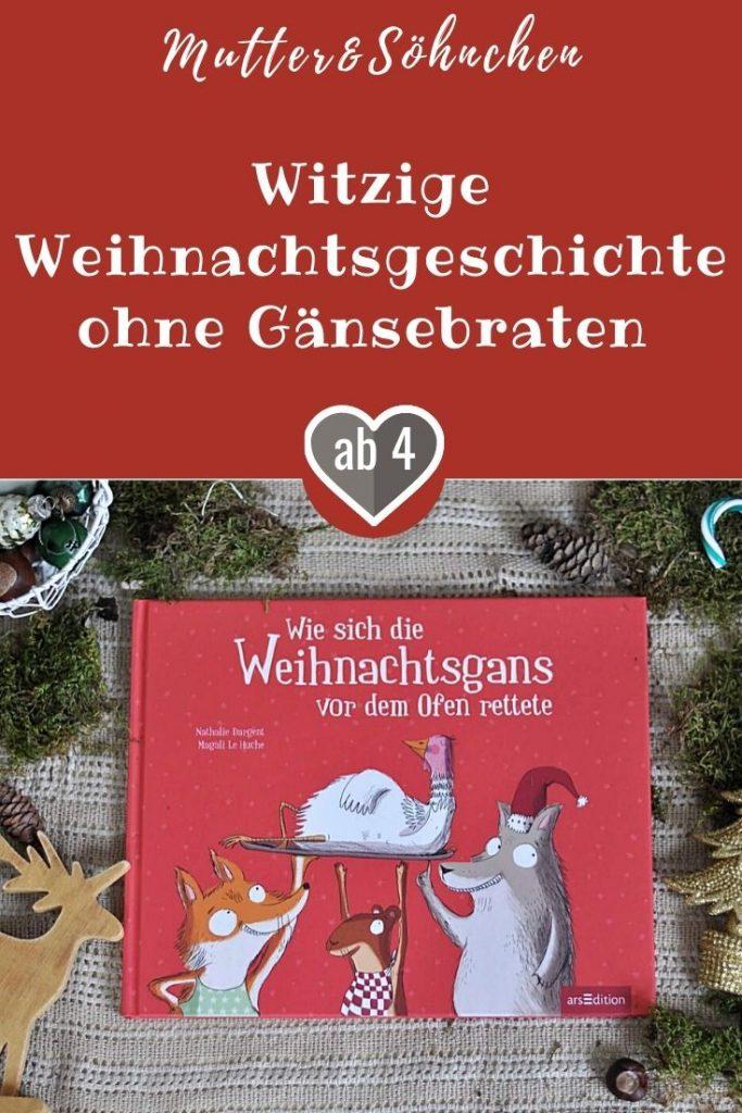Der Wolf, der Fuchs und das Wiesel wollen dieses Jahr ein großes Weihnachtsfestessen zubereiten. Da darf eine leckere Gans nicht fehlen. Nachdem sich der Fuchs höchstpersönlich um den Gänsebraten gekümmert hat, fängt der Weihnachtsschlamassel richtig an. Die geklaute Gans möchte nämlich ganz und gar nicht im Ofen landen und hat ihre eigenen Vorstellungen nach einem gelungenen Weihnachtsfest. #weihnachten #gans #freundschaft #festessen #gänsebraten #familie #bilderbuch #lesen #vorlesen #kinder