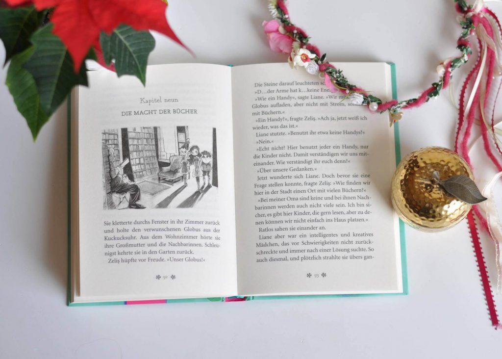 Eines Tages entdeckt Liane in der Schulbibliothek einen alten Globus. Darauf ist ein rätselhafter Kontinent in Buchform abgebildet. Kurz darauf begegnet sie zwei geheimnisvollen Kindern, die aus dem Land der Geschichten stammen. Doch dieses Land ist in großer Gefahr. #kinderbuch #fantasy #selbstliebe #lesen #leseanfänger #buchliebe #abenteuer #mobbing #freundschaft #selbstwert #sebstbewusstsein