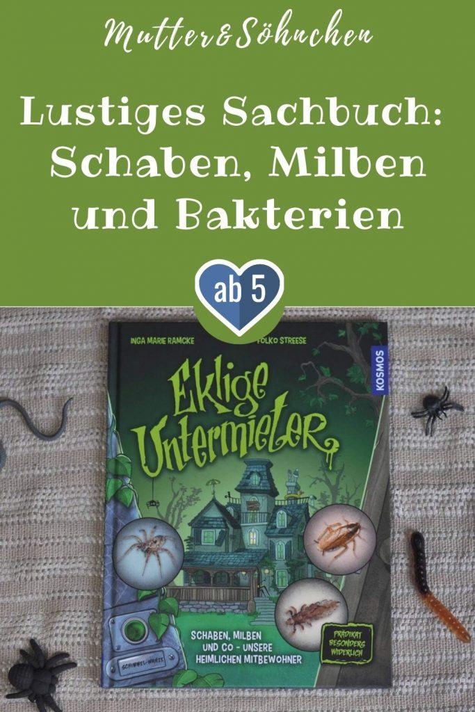Familie Schimmel-Wanze lebt in einem gruseligen alten Haus und erfreut sich einer wuselig ekligen Nachbarschaft. Man möchte gar nicht so genau hinschauen, wer da noch so wohnt: von Läusen in der Garderobe, Würmern im Klo bis zu Schaben in der Küche. #sachbilderbuch #insekten #eklig #spinnen #käfer #mikroben #zuhause #lustig #lesen #vorlesen #kinderbuch