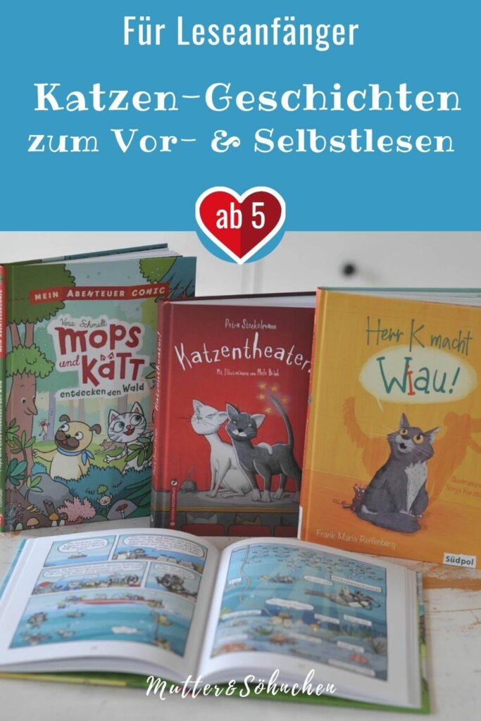 Vier Katze-Bücher für Leseanfänger zum vorlesen und selbstlesen. Ob Sachbuchcomic, Hauskatzen-Geschichte oder Diversity-Story.   #hund #lustig #katze #kinderbuch #lesen #vorlesen #diversität #vielfalt #toleranz