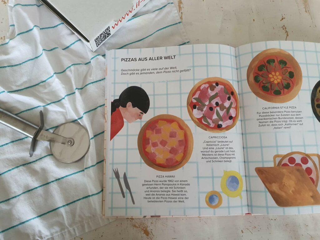 Wir lieben Pizza! ist ein Sachbilderbuch voller Geschichten, Rekorde und erstaunlichen Fakten über das vielleicht leckerste Gericht der Welt. Es liefert die komplette Schachtel mit verschiedenen Pizzasorten von Italien nach Nordamerika sowie verschiedenen Belägen von klassischen bis zu überraschend seltsam. Außerdem erklärt es, wie man selbst Pizzateig machen kann und warum die leckerste Pizza die ist, die man mit Freunden und seiner Familie teilt. #kinderbuch #sachbuch #essen älesen #vorlesen