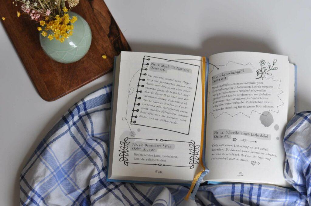 Die 13-jährige Eddy verbringt die Sommerferien im Landhotel ihrer Oma. Doch schon kurz nach ihrer Ankunft erreichen sie dort geheimnisvolle Briefe mit Schreibaufträgen. Von wem sie wohl kommen? Ob das die geheimnisvolle Frau Leisegang ist oder doch eher das Lehrerehepaar Hüsch? Während Eddy rätselt, greift sie nach kurzem Zögern dich zum Stift und schon hat sie ein Gedicht oder eine kleine Geschichte geschrieben! #spmmer #schreibkurzs #schreibtipps #autor #jugendbuch #liebe #ersteliebe #ferien #kinderbuch