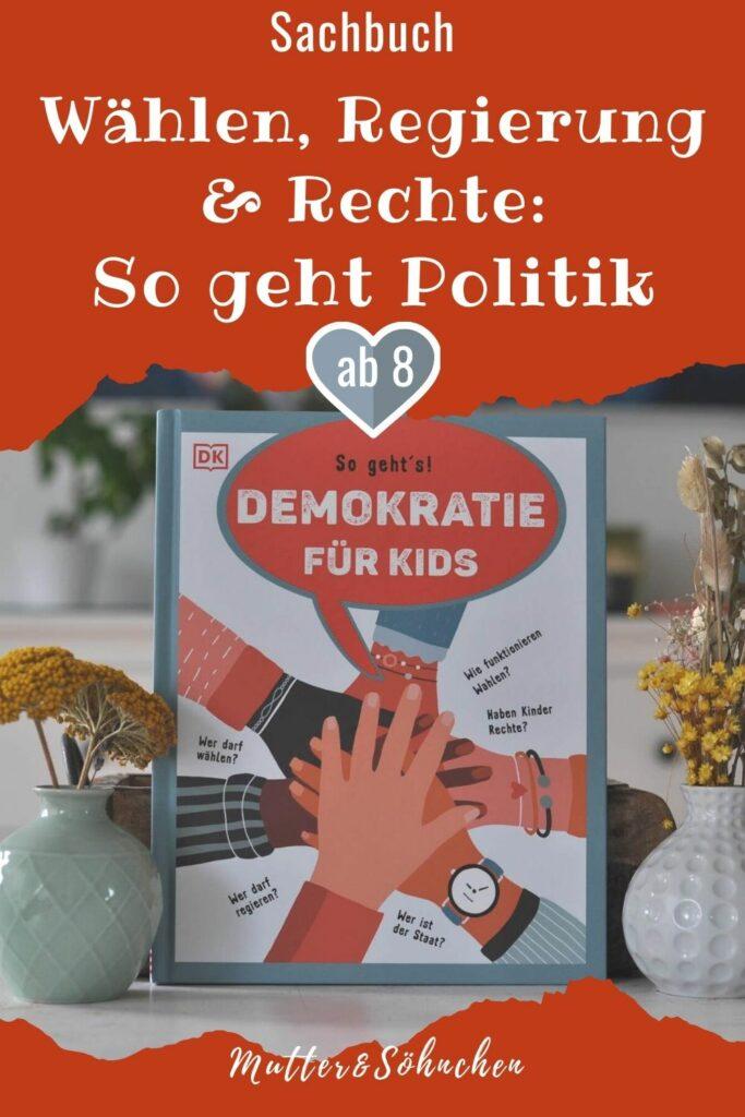Wer darf wählen? Wer darf regieren? Wie funktionieren Wahlen? Haben Kinder Rechte? Wer ist der Staat? Wer bestimmt in Deutschland? Und wer entscheidet darüber, wer bestimmen darf? Wie funktioniert eine Wahl? Was ist eine Partei und welche gibt es? Dieses Buch erklärt altersgerecht und mit vielen Beispielen aus dem Alltag, wie Politik und Demokratie in unserem Land funktionieren.  #politik #sachbuch #kinderbuch #wahlen #bundestag #wählen #erklären #parteien #demokratie