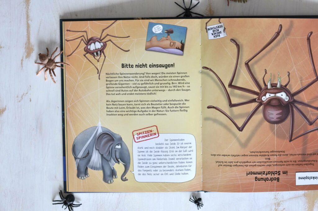 """""""Jeder Mensch verschluckt im Schlaf 8 Spinnen pro Jahr und Wespen stechen aus reiner Bosheit."""" Blödsinn! Jetzt wird aufgeräumt mit Vorurteilen gegen Tiere! Hier kann man alles nachlesen, was Ratten, Kröten, Ohrenkneifern oder Wölfen so nachgesagt wird. Wer die Wahrheit wissen will, dreht einfach das Buch um 180 Grad: So entdeckt man spannende Fakten über die angeblich """"fiesen Viecher"""" und ihr Verhalten – und die Vorurteile lösen sich auf. #viecher #tierbuch #sachbuch #sachbilderbuch #vorurteile #tierwissen #insekten #spinnen #taube #wölfe #schnecken #kinderbuch"""