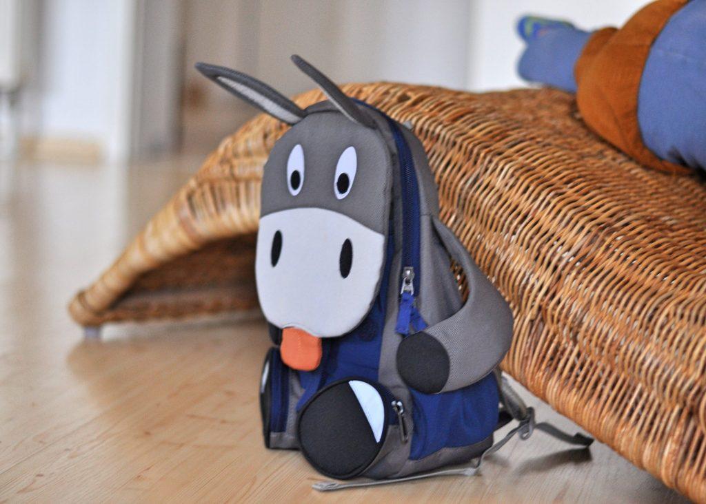 Eddy Esel von Affenzahn, Großer Freund für den Kindergarten, Kindergartenrucksack, mehr über unseren neuen Rucksack und das Großwerden auf Mutter&Söhnchen