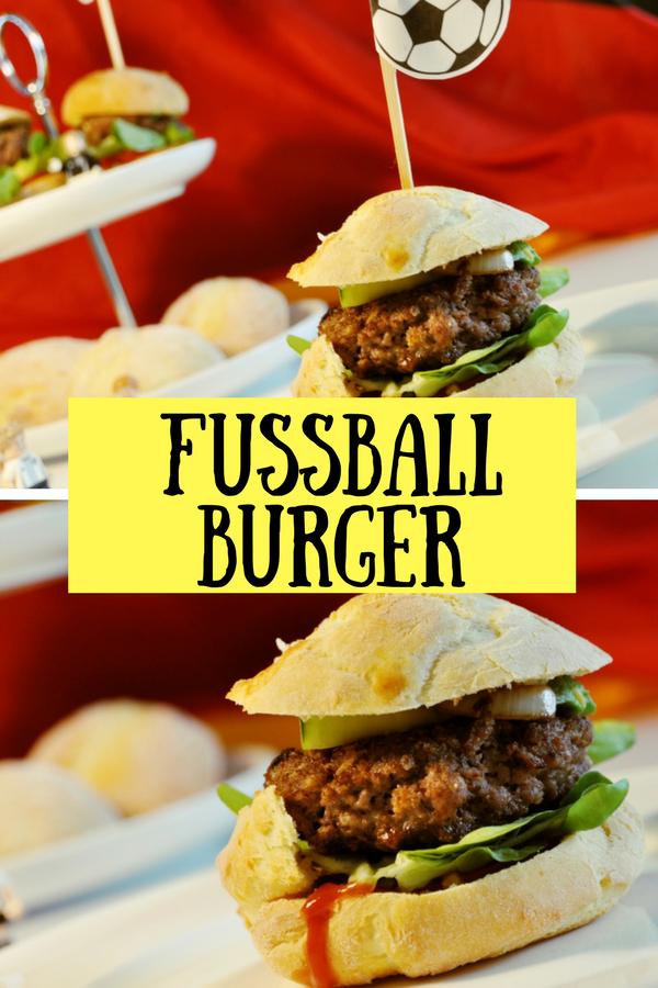 Fussball Burger - Rezept für die besten Teamplayer Burgerbrötchen, die auf keiner Fußball-Party fehlen dürfen #fussball #wm #em #burger #brötchen #rezept