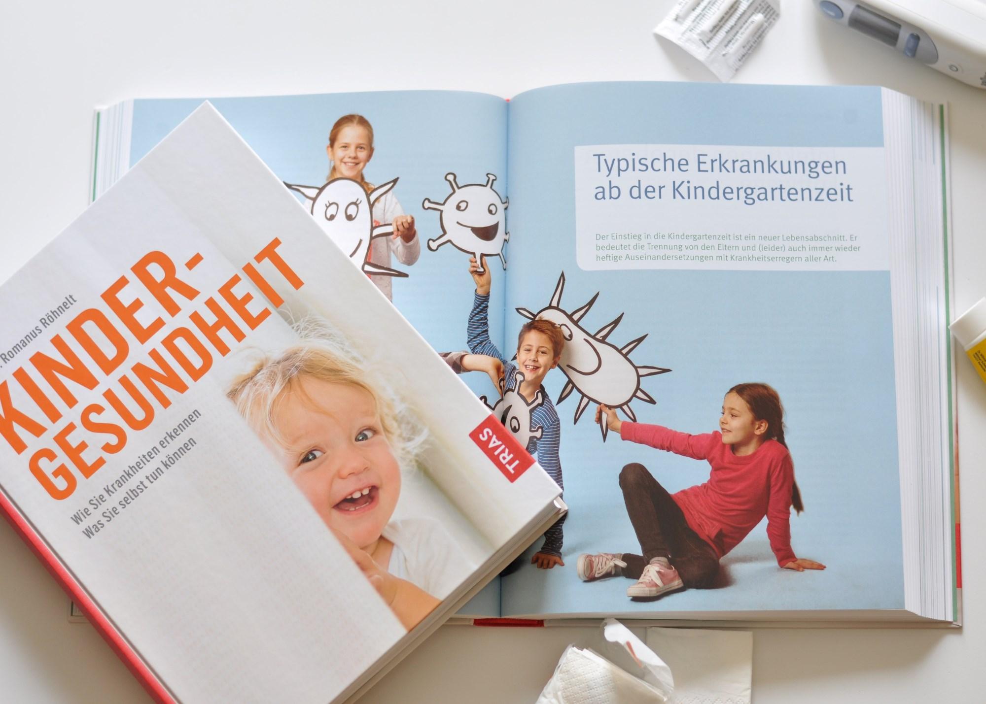 Kindergesundheit - Kinderkrankheiten besser erkennen, vom Baby bis zum Schulkind, alles über Kinderkrankheiten und Entwicklung, ein umfangreicher Ratgeber, Rezension auf dem Blog