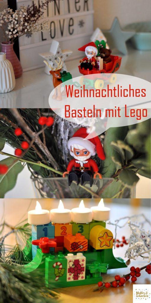 Adventskranz oder Schattenspiel - mit Lego Duplo weihnachtlich basteln. Ein paar Ideen findest du auf Mutter&Söhnchen #lego # legohack #legoduplo #weihnachten #ledoadventskranz
