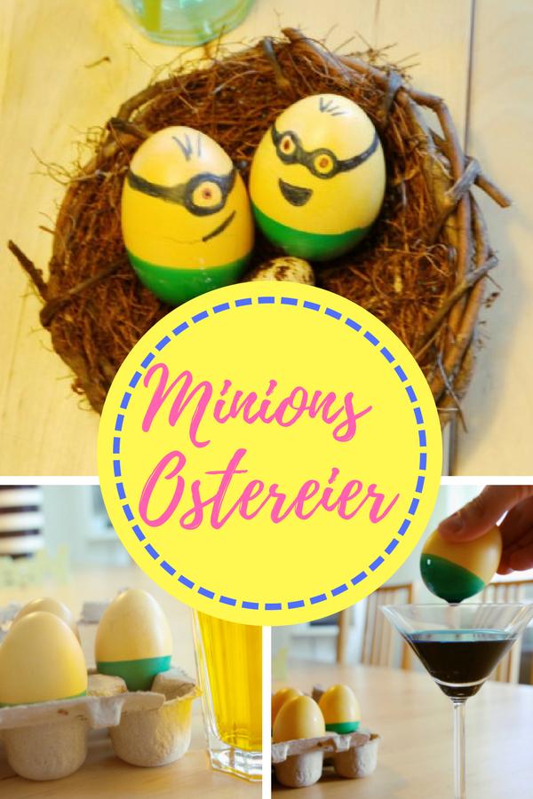 Minions Ostereier selbst färben - Einfache Anleitung für lustige Minions-Ostereier #ostern #minion #minions #eier #färben