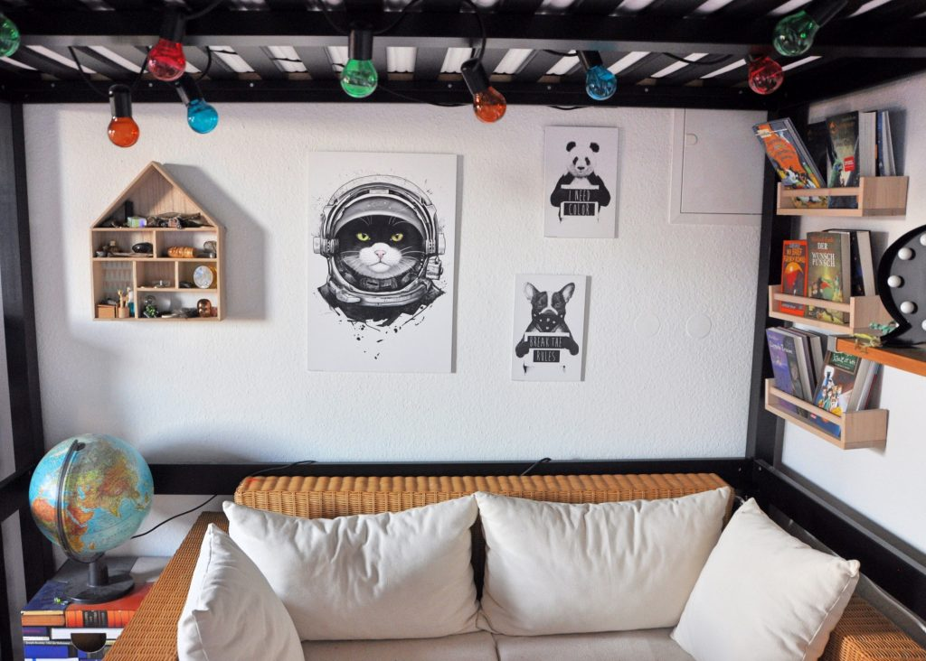 Weltraumkatze und coole Tiere - Wandideen mit Tieren
