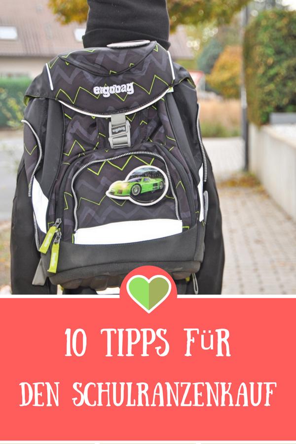 10 Tipps für den Schulranzenkauf #Werbung #Ergobag #Schule #Einschulung #Schulranzen #Schulrucksack #Schule