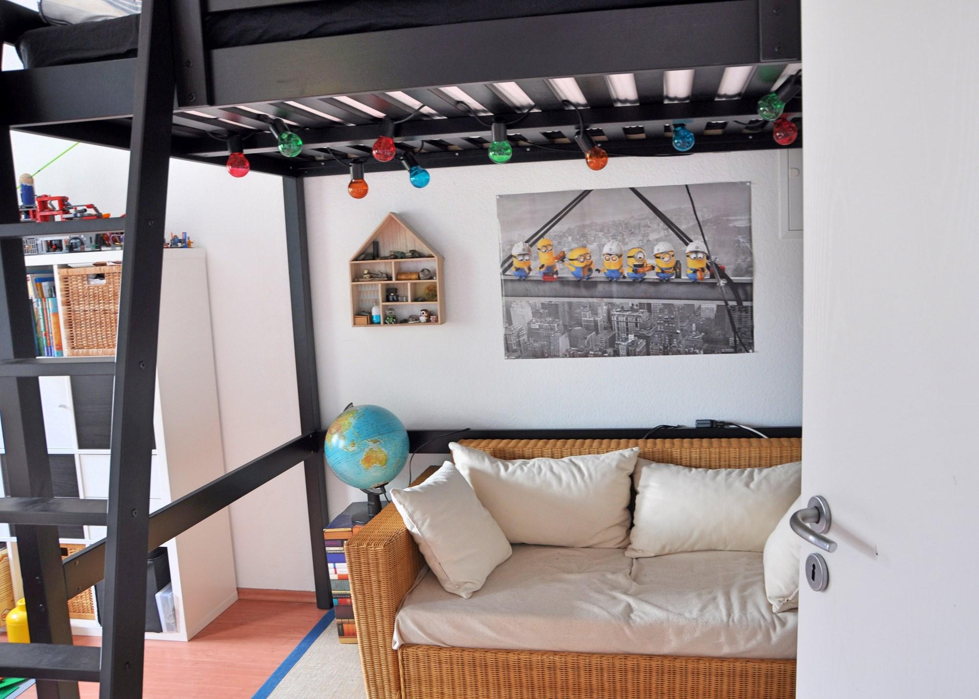 Kinderzimmer makeover ein hochbett f r das schulkind - Kinderzimmer schulkind ...