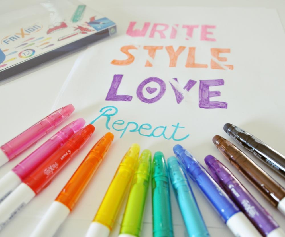 Malen, Schreiben und ausradieren – mit Filzstift